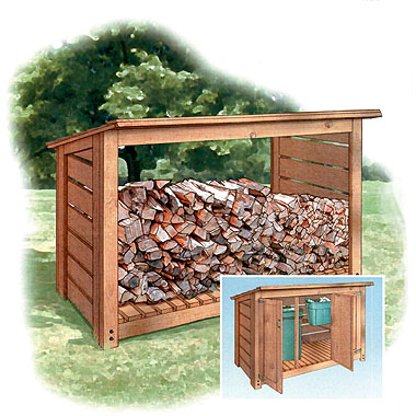 ... Decker has several firewood shed plans, and this one is our favorite